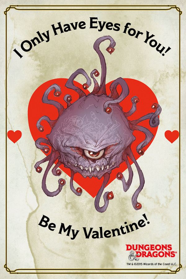 DampD Valentines Day Cards Tribality