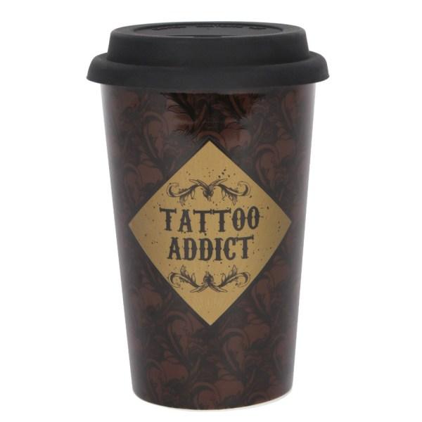 Tattoo Addict Art Deco Travel Mug Cabinet of Curiosities