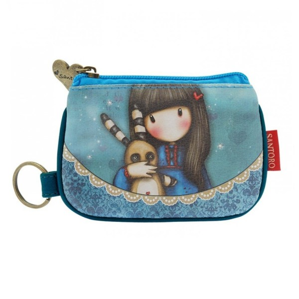 Santoro Gorjuss Keychain Zip Purse Wallet Cosmetics Case Accessory Case Hush Little Bunny