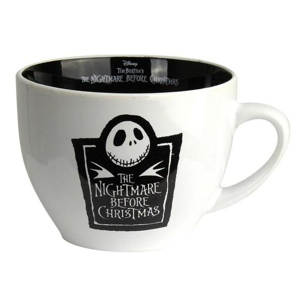Nightmare Before Christmas Cappuccino Large Mug Jack Skellington Head Disney Skeleton Skull Pyramid International