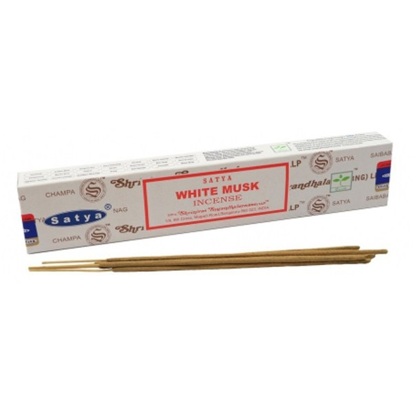 Satya White Musk Boxed Incense Sticks Cleansing Aromatherapy Fragrance Aroma
