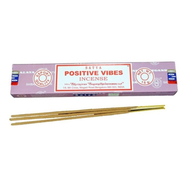 Satya Positive Vibes Boxed Incense Sticks Cleansing Aromatherapy Fragrance Aroma