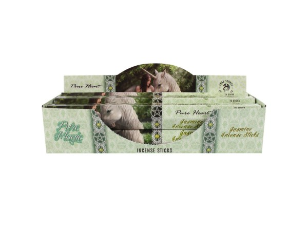 Anne Stokes Pure Heart Boxed Incense Sticks Jasmine Infused Cleansing Aromatherapy Fragrance Aroma Unicorn Fairy Pixie