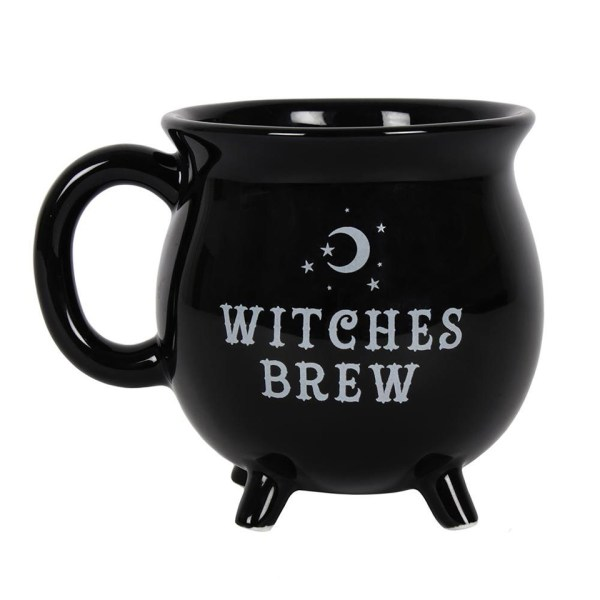 Witches Brew Cauldron Mug Black Magic Witchcraft Wiccan Halloween Potion