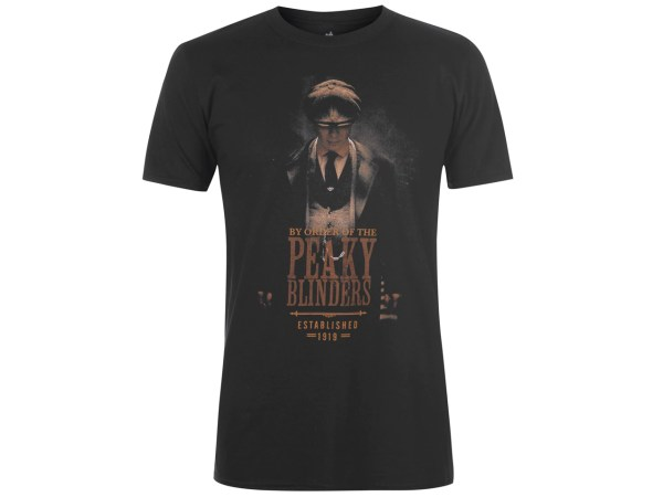Peaky Blinders T-Shirt Establised 1919 Birmingham Tommy Shelby Television Series Show Official