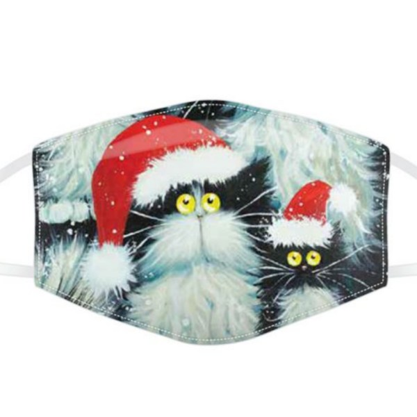 Christmas Cats Face Mask