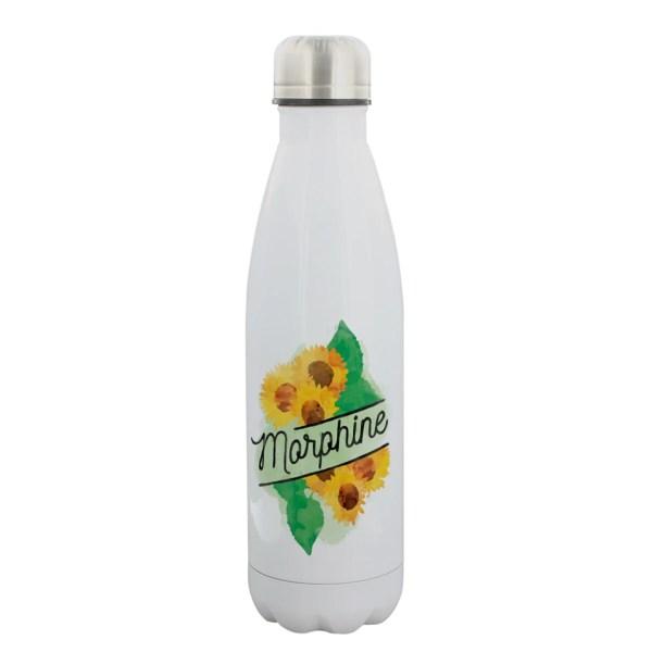 Morphine Sun Flowers Deadly Detox Poison Water Bottle Stainless Steel Grindstore