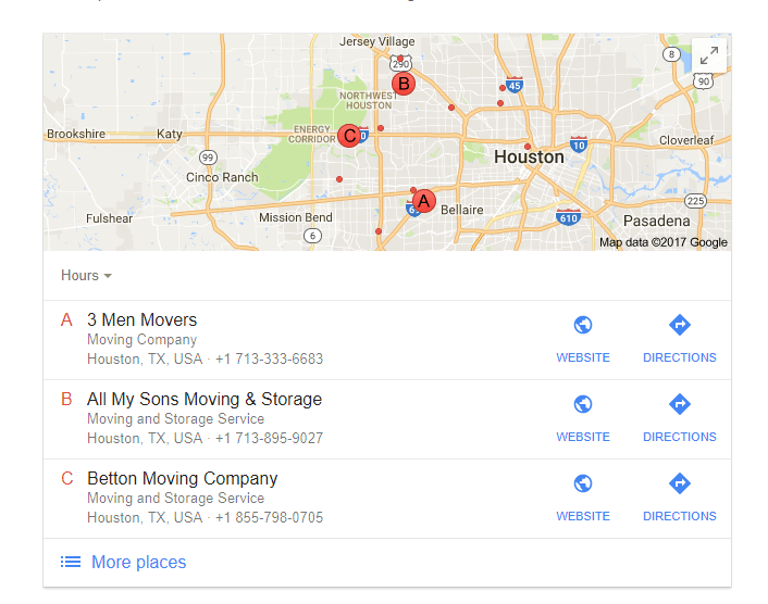 Local SEO for Moving Companies gmb