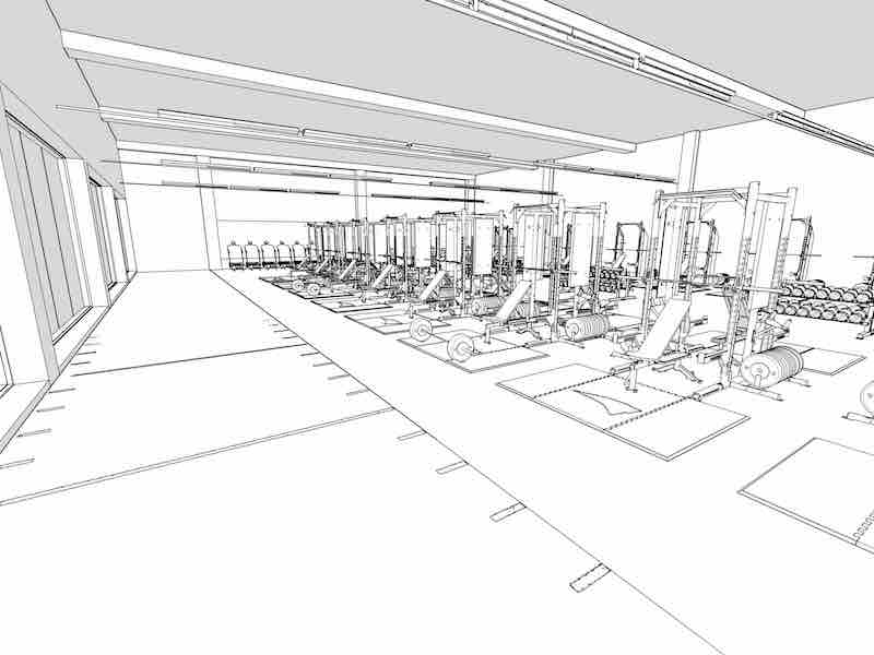 weight room design drawing