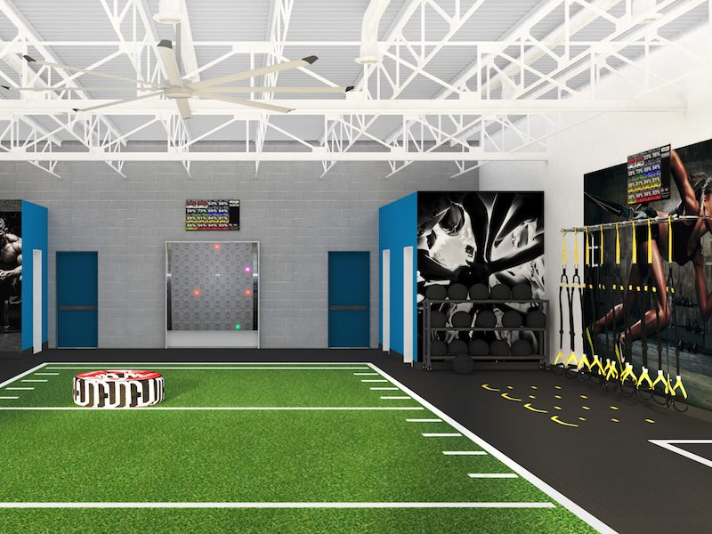 right side of the weight room
