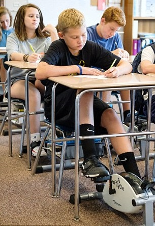 School should invest in bike pedals under desks