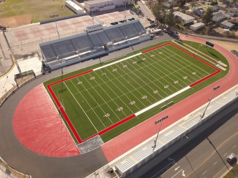 Out with the old, in with the new: FUHS new track