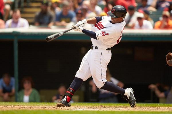Cleveland Indians shortstop Francisco Lindor's first homer ...