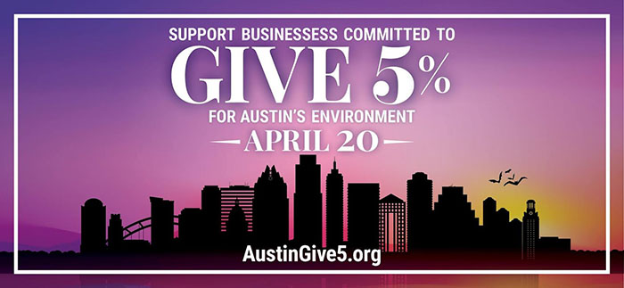 earth day austin give 5