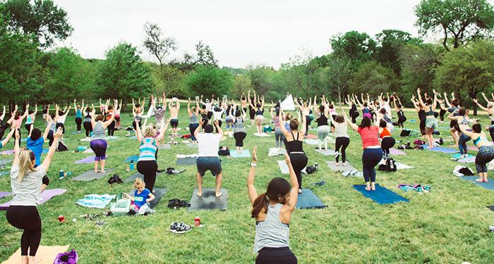 native hostel earth day austin yoga