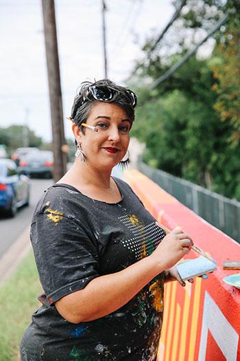veronica ceci, austin, meander mural, lamar, tempo 2d, art in public places, tribeza