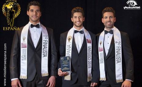 Imagen de la belleza masculina al final del concurso de Mr. España 2015