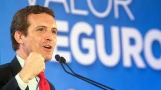 Pablo Casado en campaña