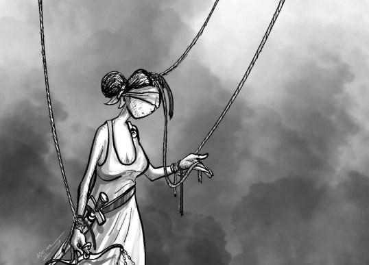 La Justicia movida por los hilos de un titiritero.