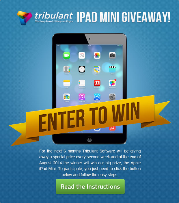 Ipad Mini Giveaway Contest 6th Winner