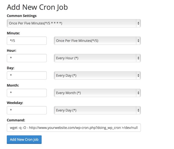 Add New Cron Job