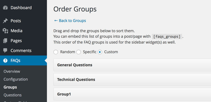 Order Groups