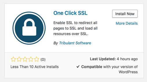 wordpress one click ssl plugin