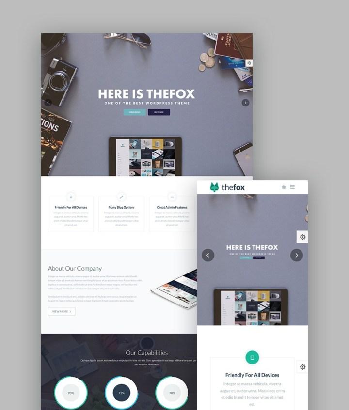 TheFox WordPress Portfolio Theme
