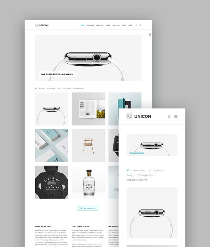 Unicon WordPress Portfolio Theme