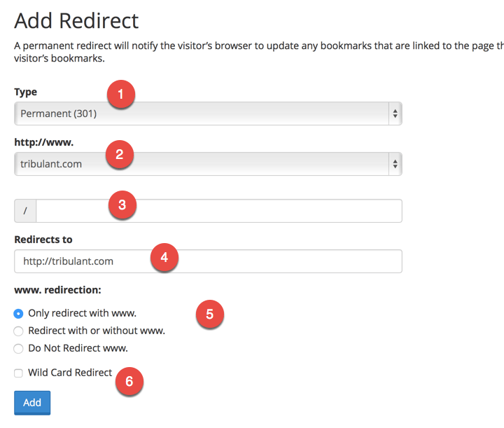 cPanel Redirect From www to non-www