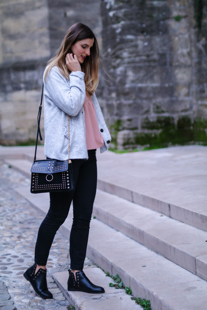 blog mode sac clouté bottines à clous