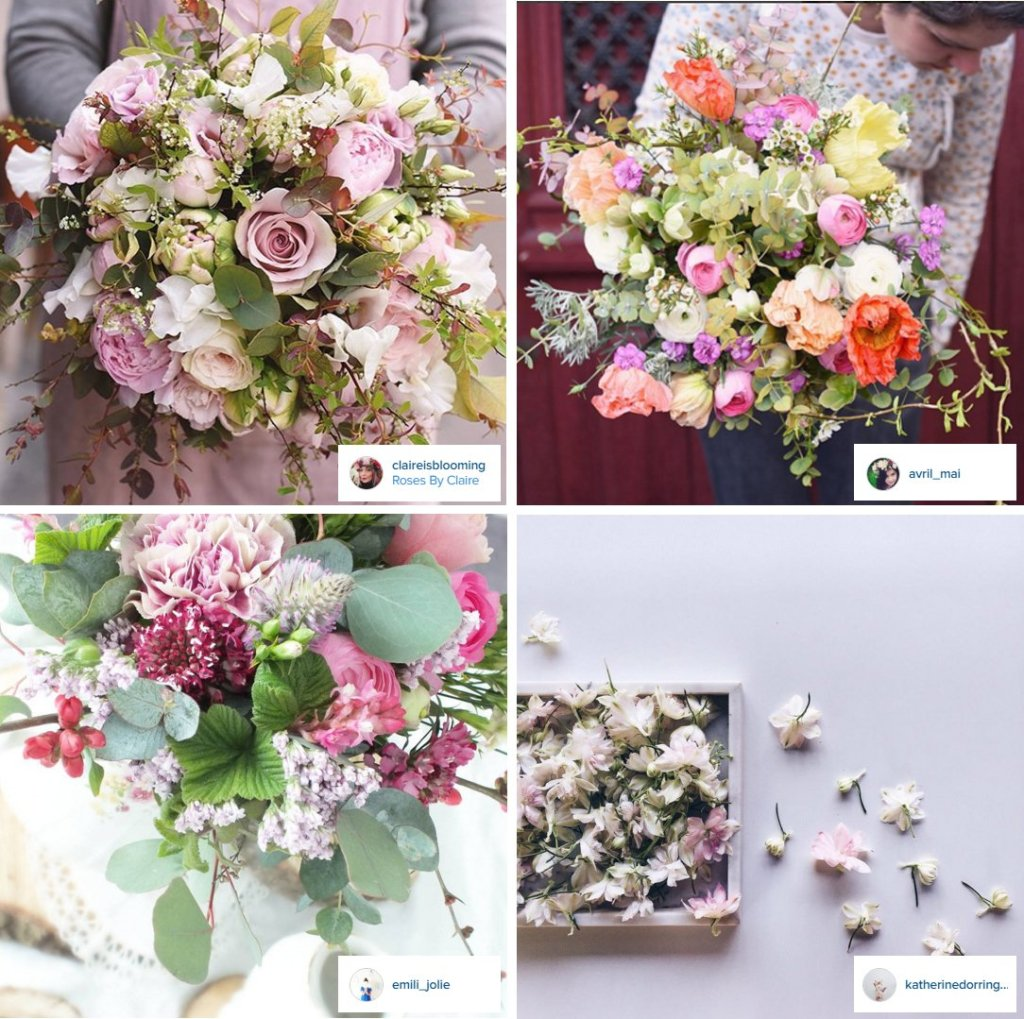 comptes instagram de fleuristes