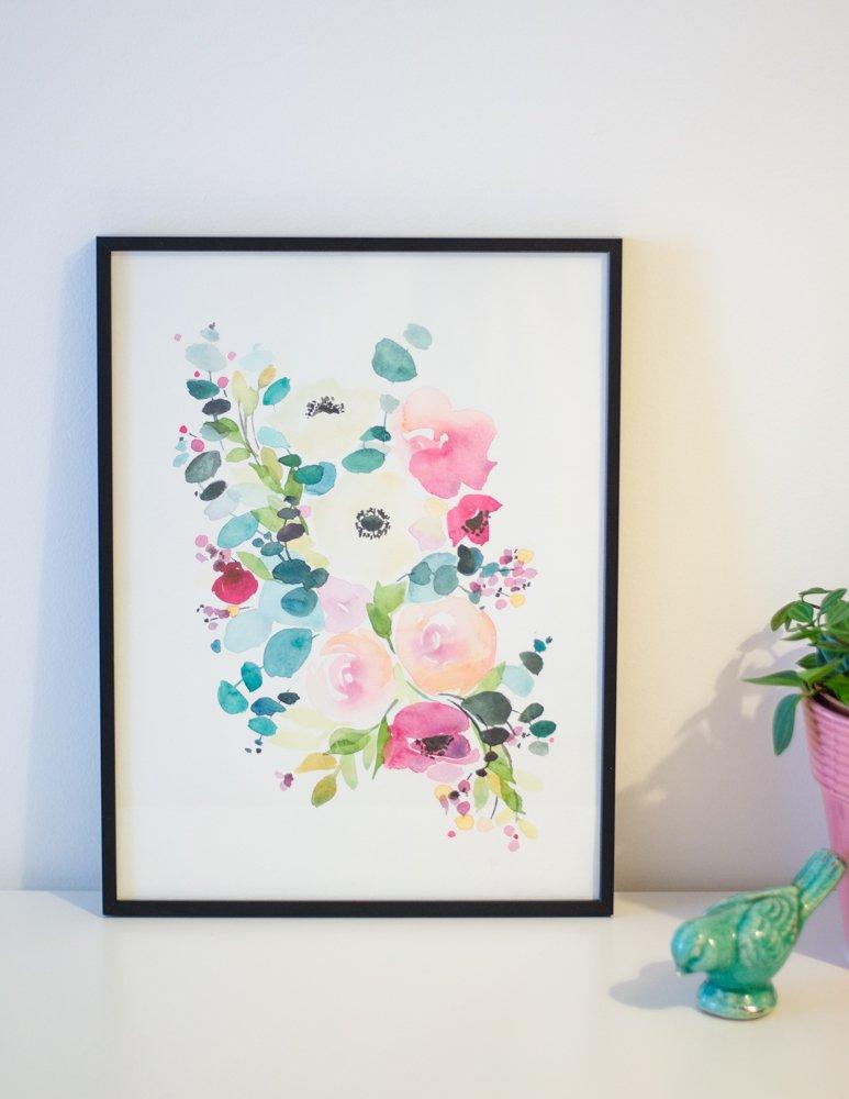 un an aquarelle fleurs watercolors florals-1-2