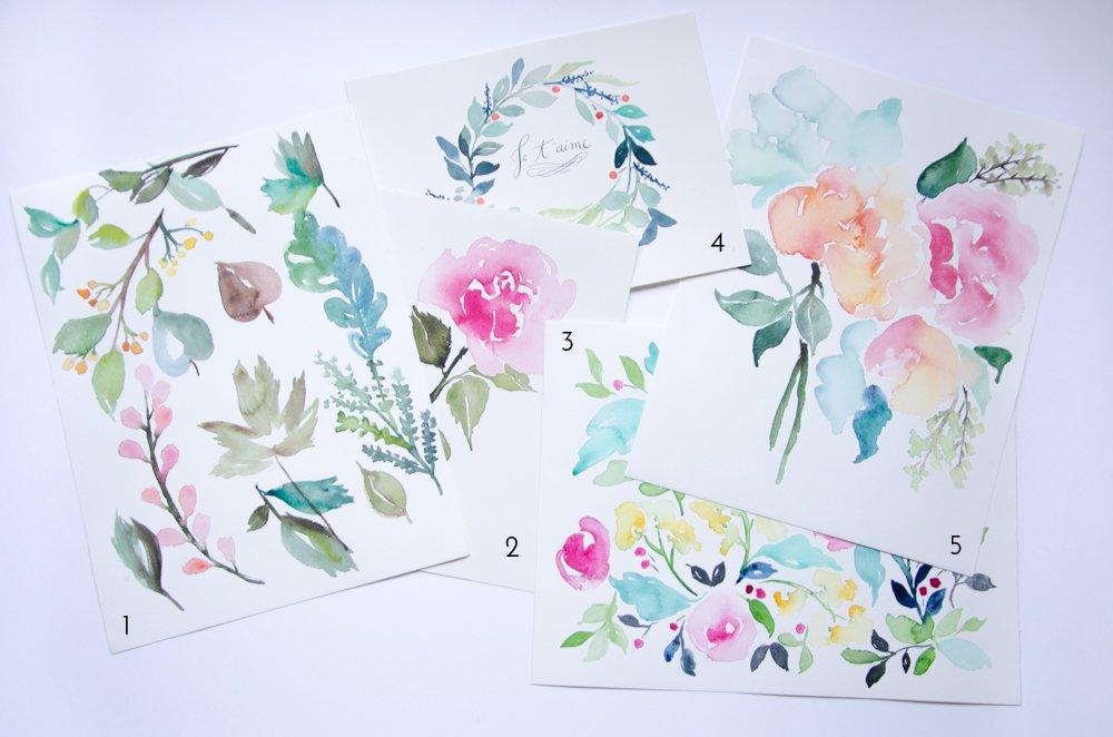 exemples fleurs aquarelle
