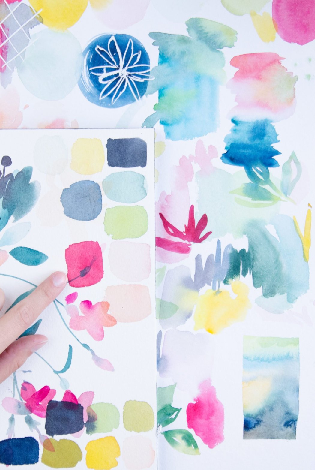 créer un nuancier facilement à l'aquarelle