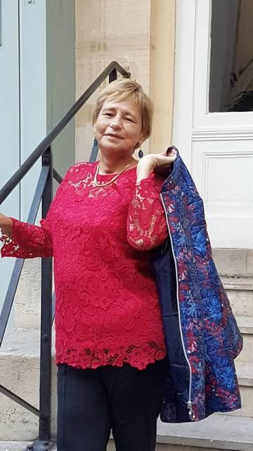 Bleu bonheur tunique et pantalon