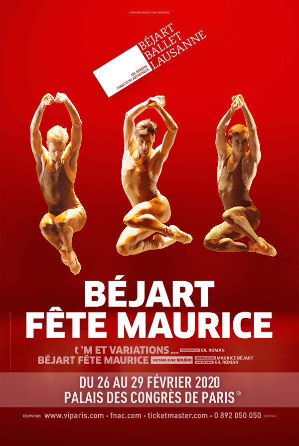 Béjart fete Maurice au Palais des Congrès de Paris du 26 au 29 février