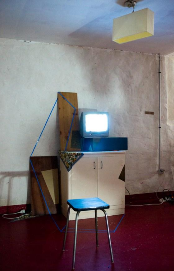 Installation par Cécile Chaput / Photo : Sylvain Raybaud