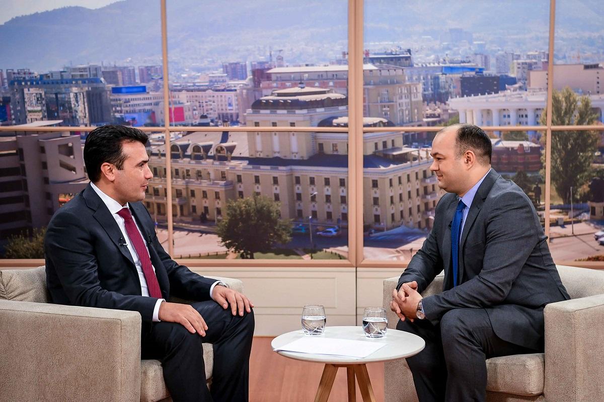 Премиерот Заев во телевизиско интервју: 2019 ќе биде економска година за Македонија