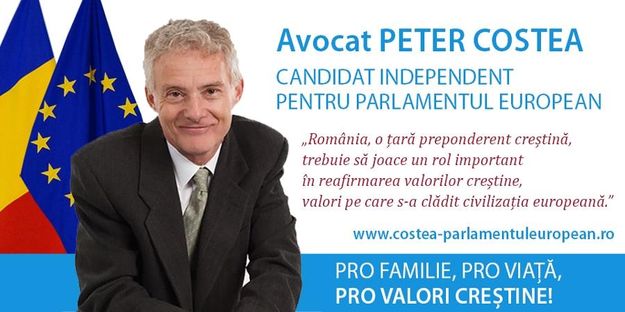 Pastor Cristian Ionescu: Îl recomand cu totală încredere pe Peter Costea pentru Parlamentul European