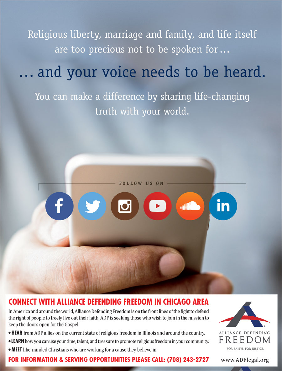 CONNECT WITH ALLIANCE DEFENDING FREEDOM IN CHICAGO AREA