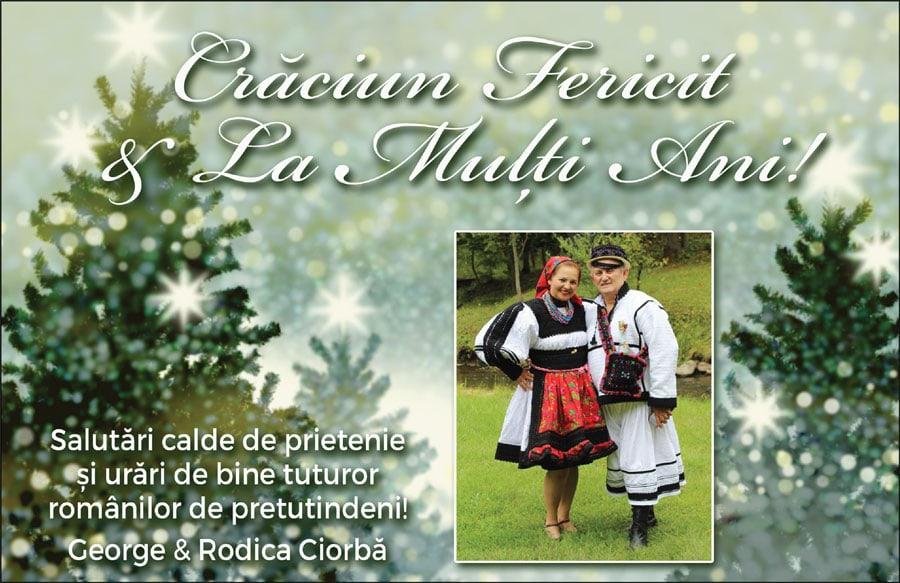 George & Rodica Ciorbă: Crăciun Fericit & La Mulți Ani!