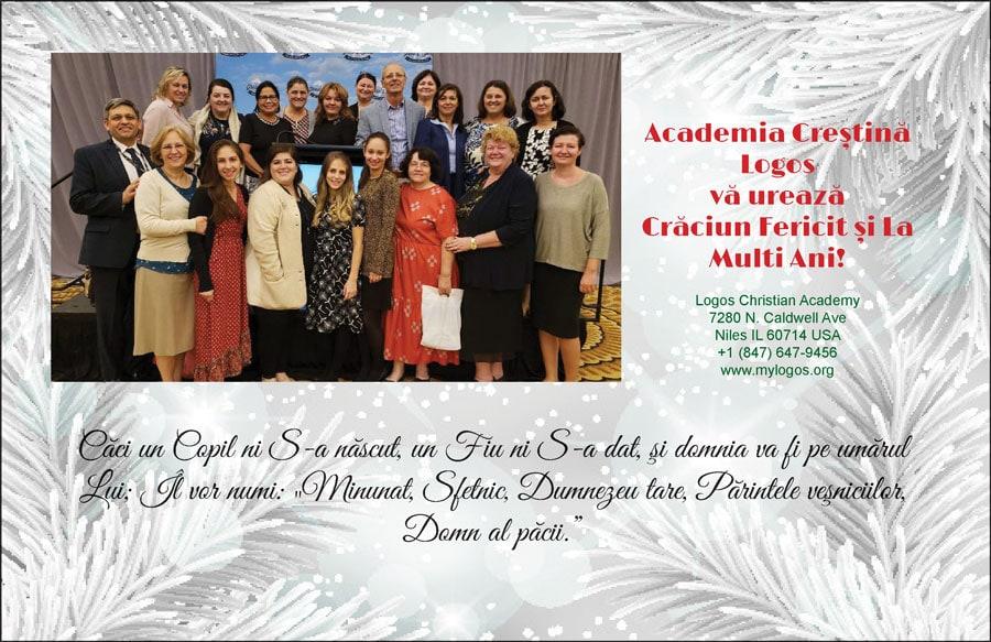 LOGOS Christian Academy: Crăciun Fericit și La Mulți Ani!