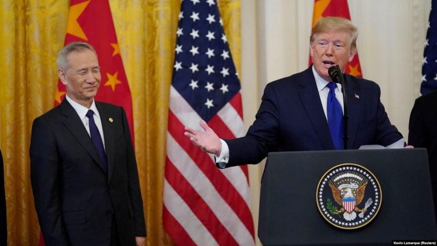 """SUA şi China au semnat """"Faza 1"""" a acordului comercial"""