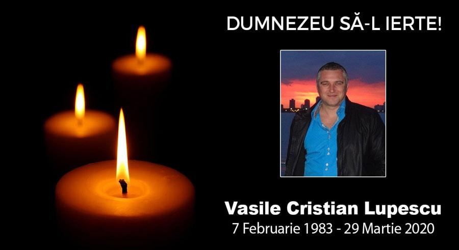 IN MEMORIAM: Vasile Cristian Lupescu (1983 – 2020) – Slujba Înmormântării transmisă în direct