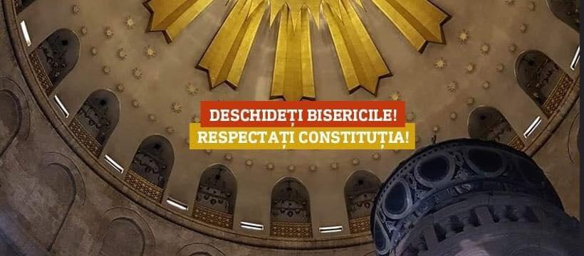 Platforma Civică ÎMPREUNĂ solicită Redeschiderea Bisericilor din România