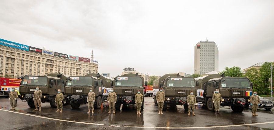 România trimite în Republica Moldova 20 de camioane cu echipamente sanitare