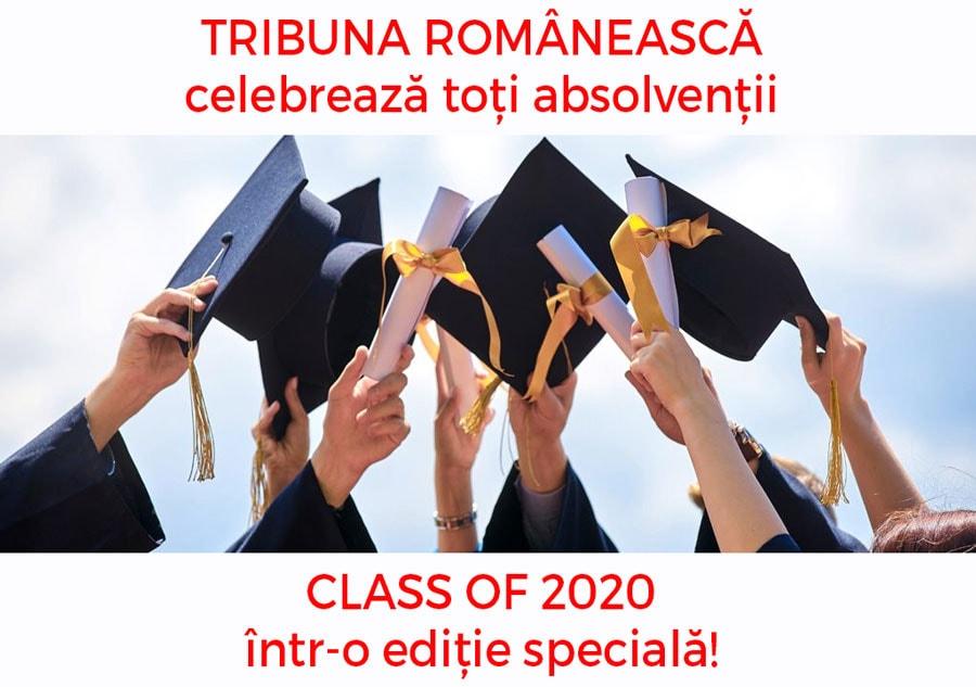"""Tribuna Românească celebrează toți absolvenții """"CLASS OF 2020"""" într-o ediție specială!"""