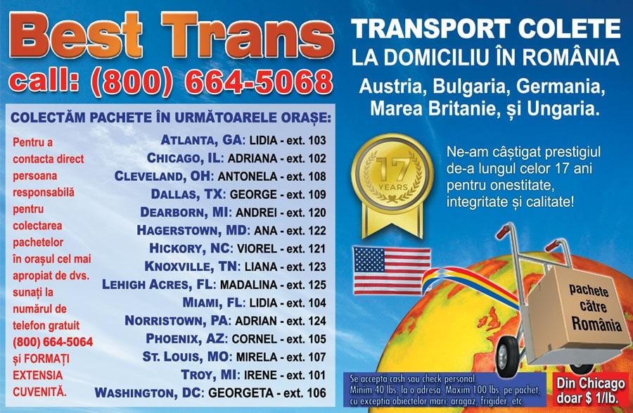 BEST TRANS – TRANSPORT COLETE LA DOMICILIU ÎN ROMÂNIA