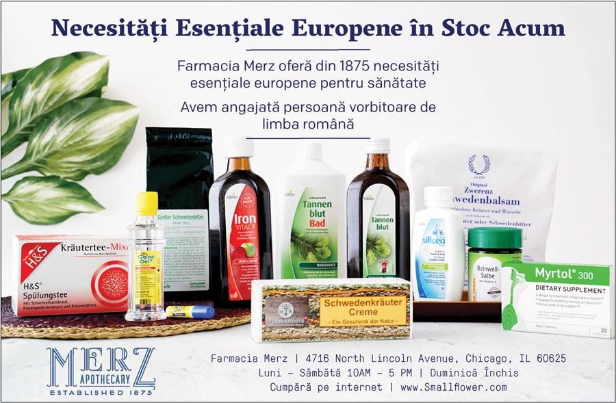 MERTZ APOTHECARY din Chicago – farmacia preferată a europenilor!